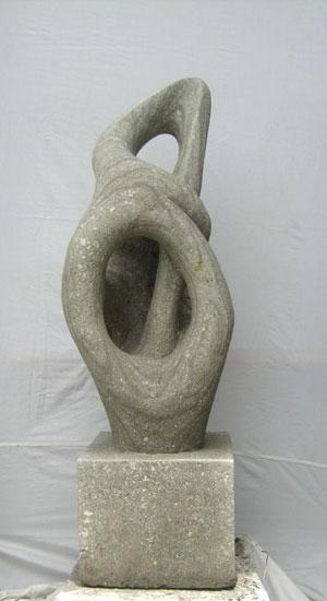 Exaltierte Statue toll