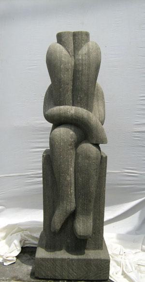 Abstrakte Skulptur kunstvoll