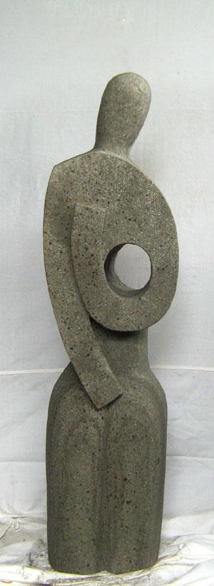 Abstrakte Skulptur künstlerisch