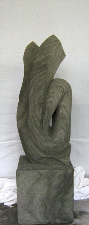 Abstrakte Skulptur Garten