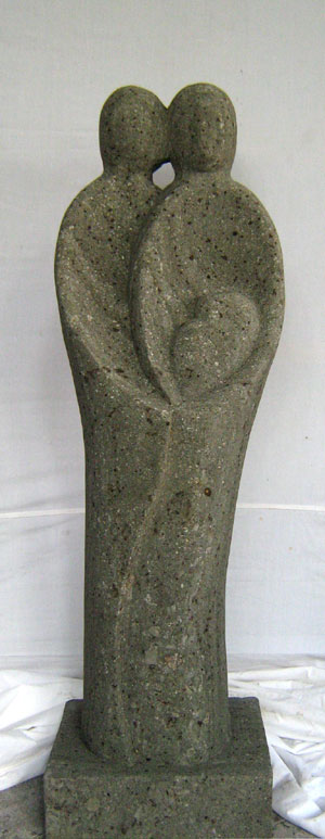 Abstrakte Statue toll