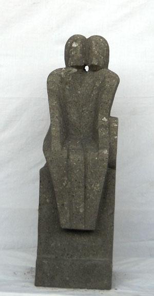 Sandstein Statue neu
